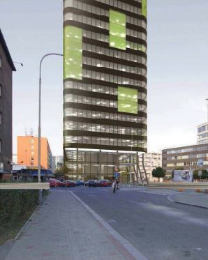 Green City Tower - vizualizace
